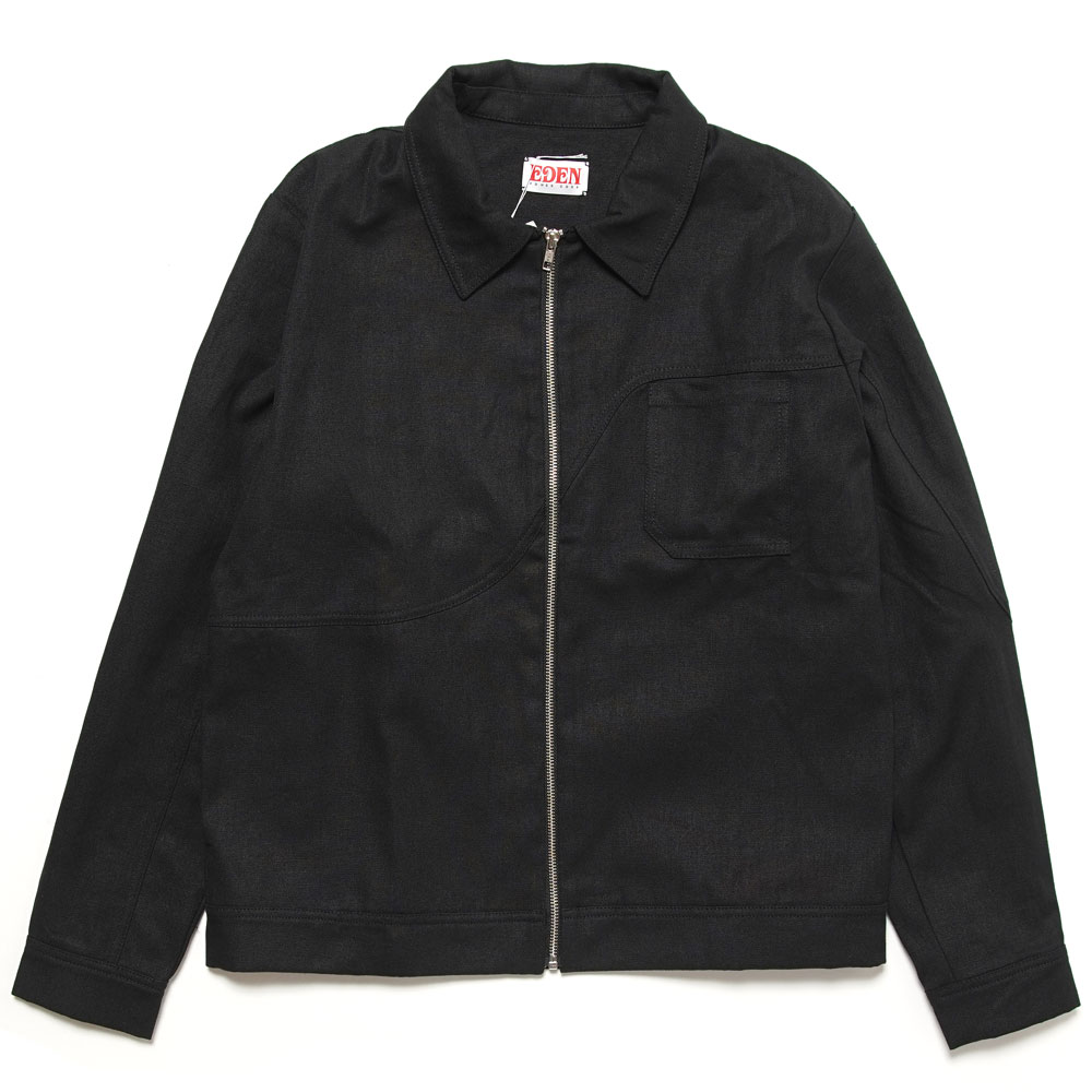 CORP HEMP ORGANIC COACH JACKET BLACK&GREY
