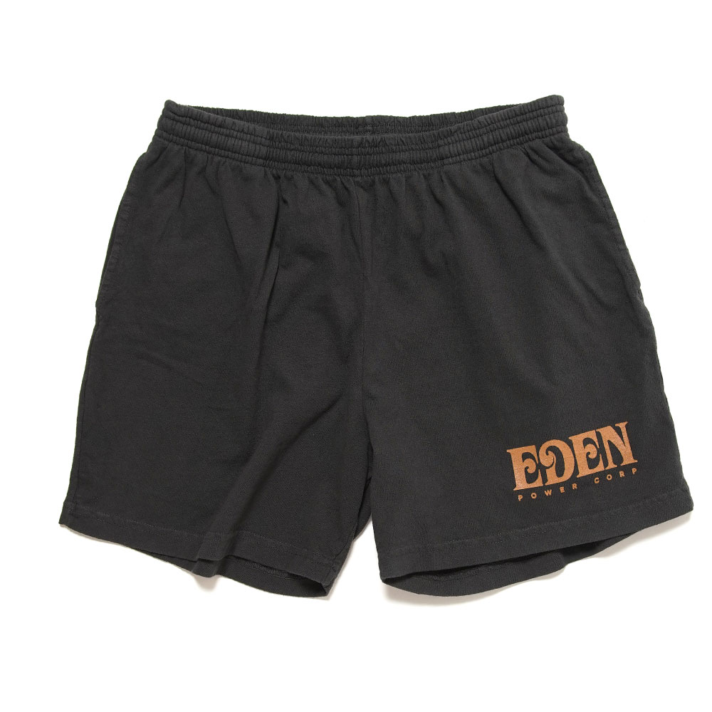 EDEN SWEAT RECYCLED SWEATSHORT BLACK&ORANGE