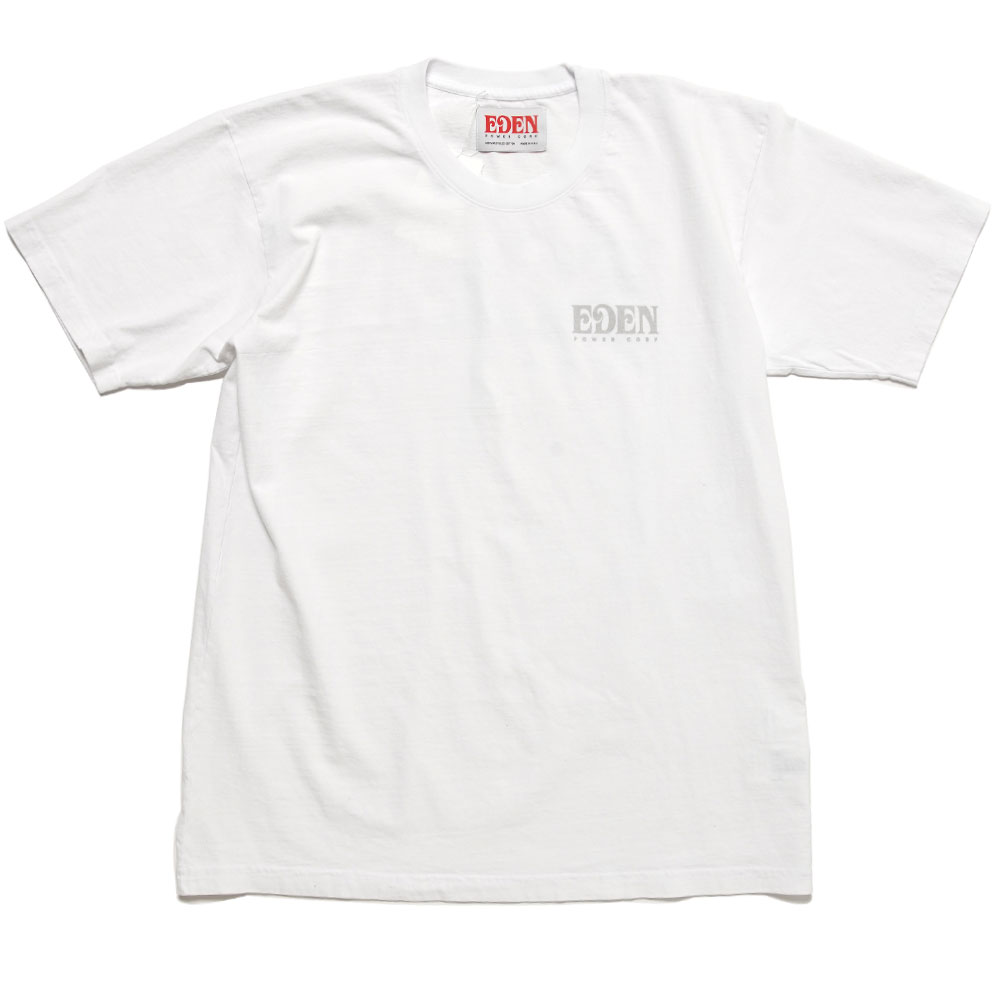 EDEN RECYCLED SHORTSLEEVE WHITE&GREY