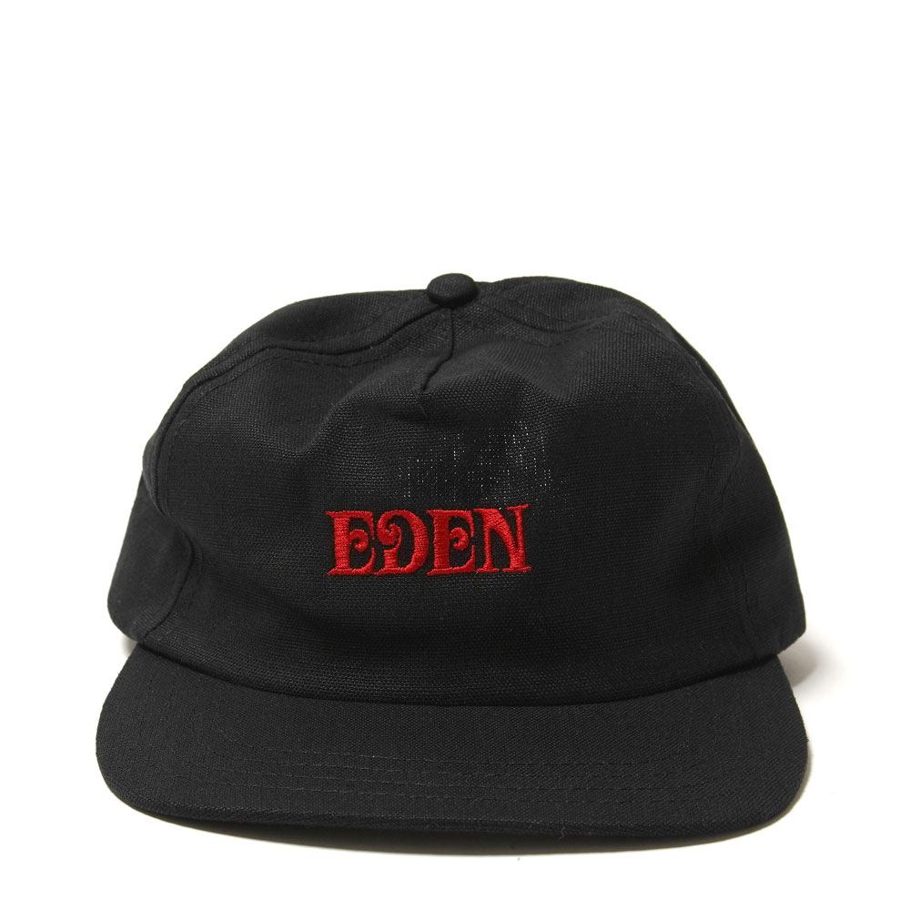EDEN HEMP ORGANIC CAP BLACK/RED
