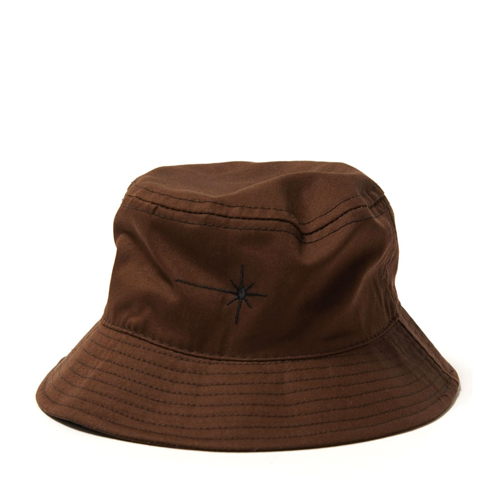 SHINING ORGANIC COTTON BUCKET BROWN/BLACK