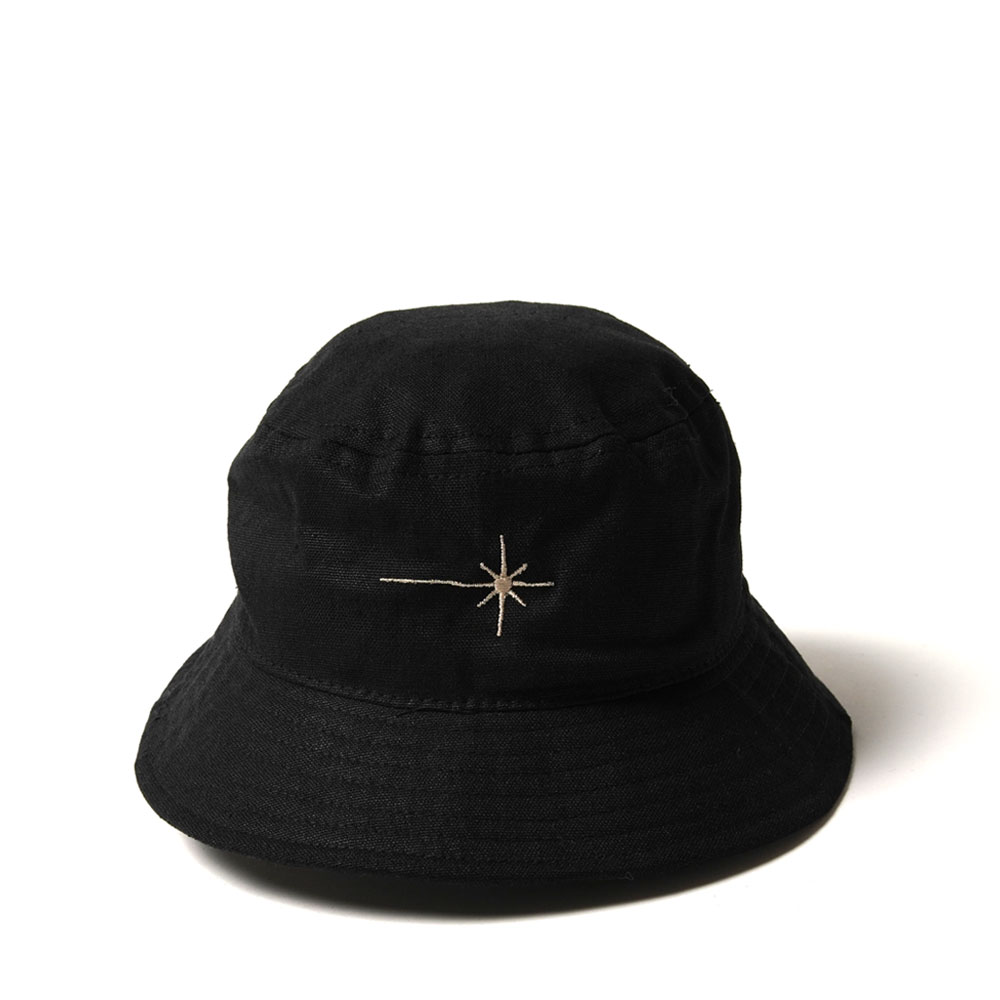 SHINING STAR BUCKET HAT HEMP+ORGANIC BLACK