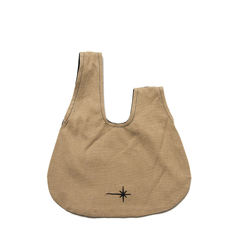 BOURSE SMALL BAG RECYCLED+ORGANIC TAN BLACK
