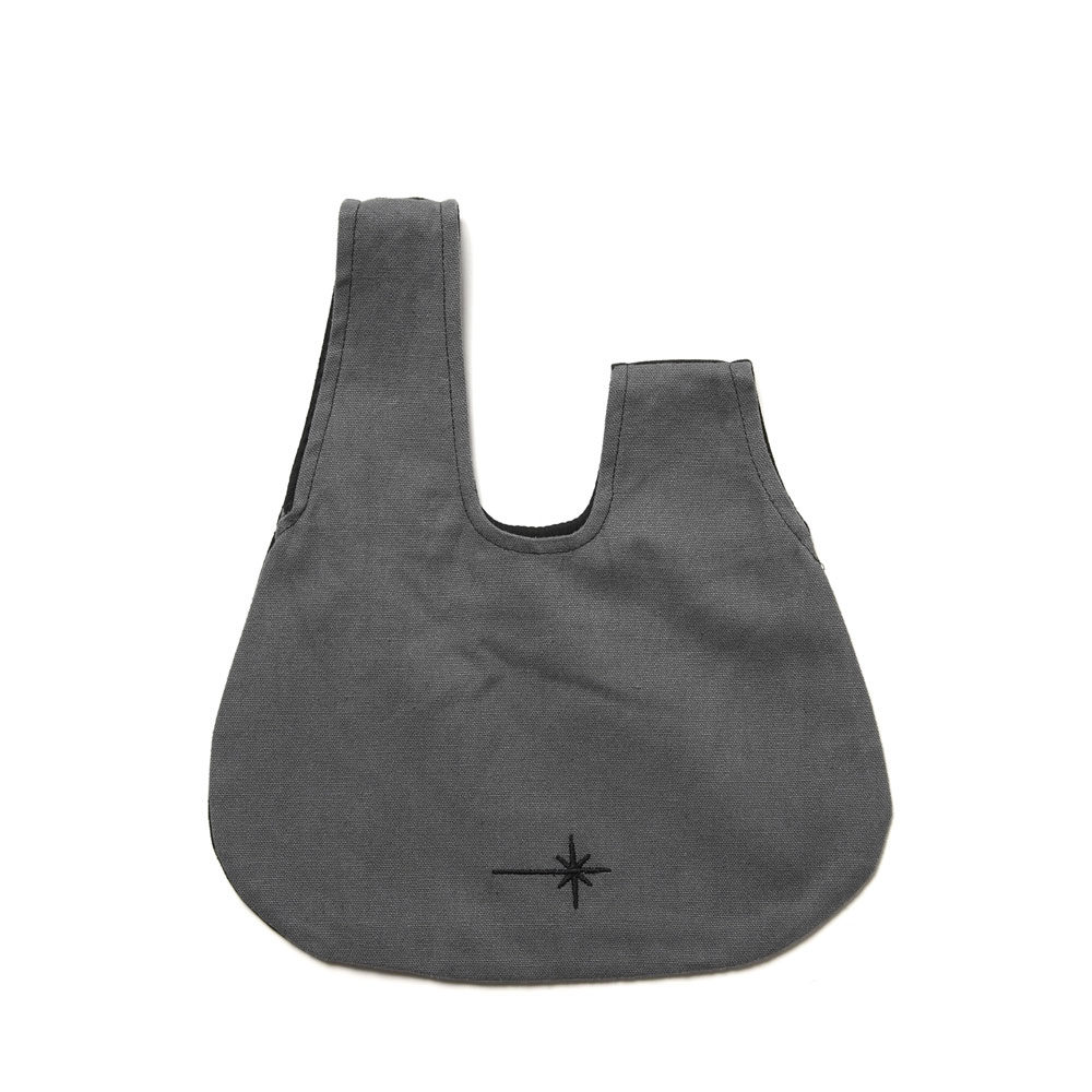 BOURSE SMALL BAG RECYCLED+ORGANIC BLACK GREY