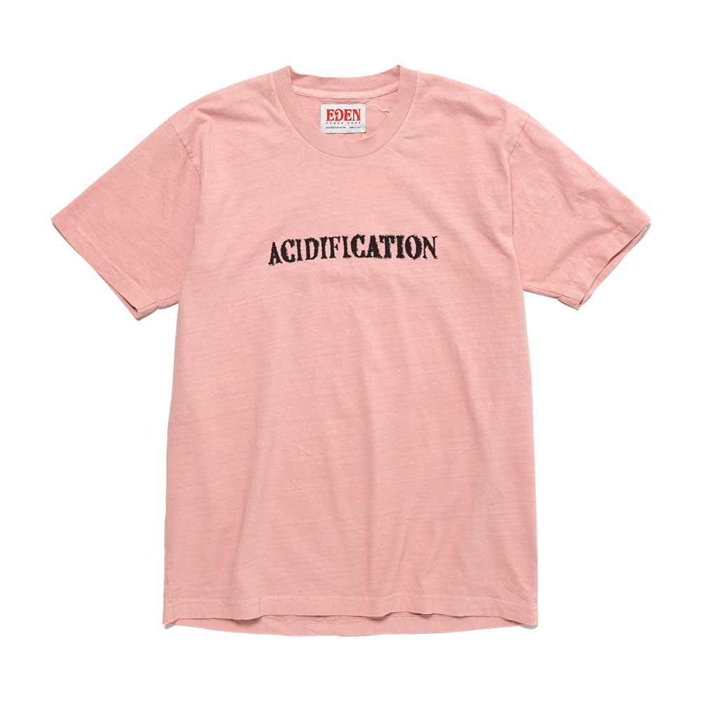 ACCIDIFICATION RECYCLED T-SHIRT CORAL