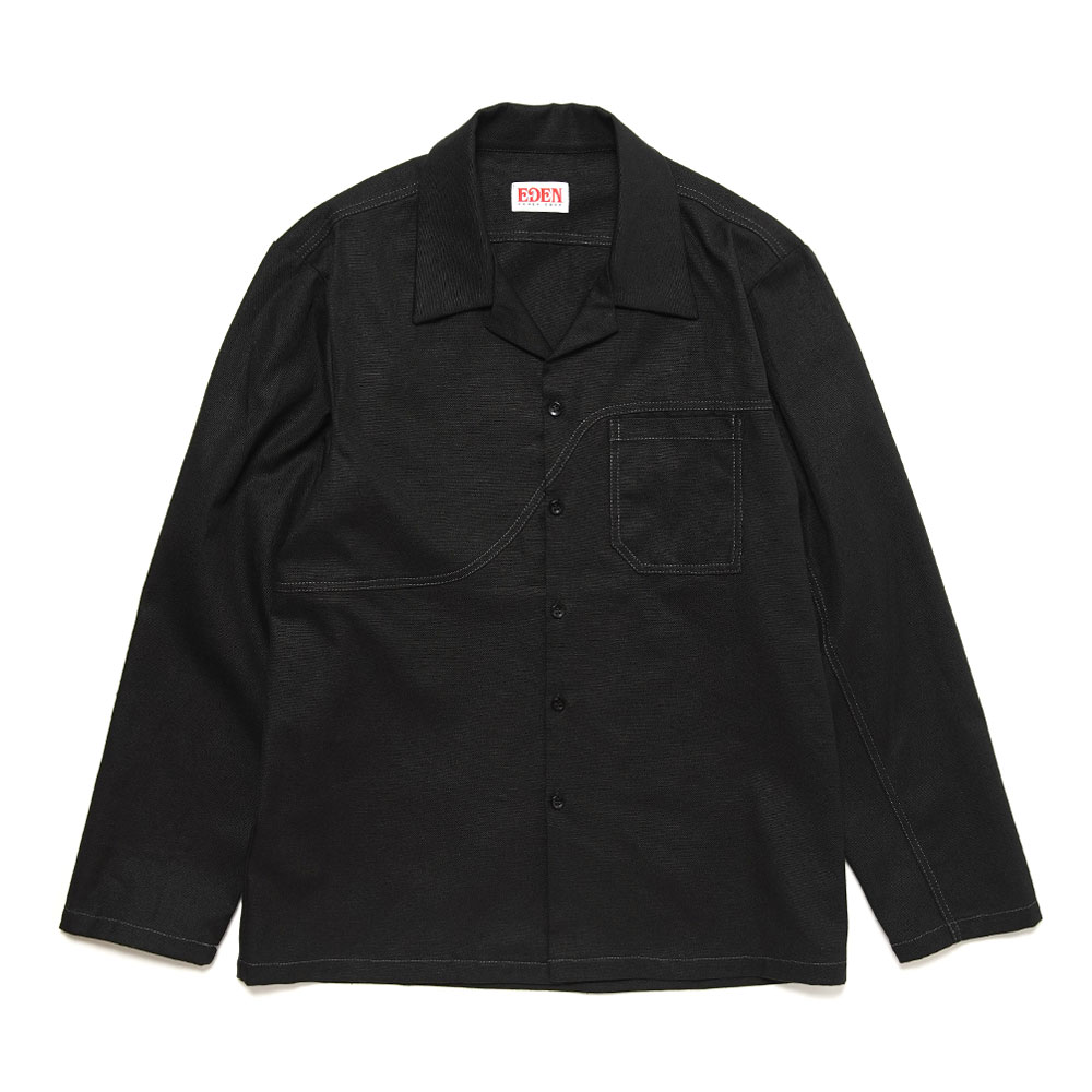 FIELD SHIRT HEMP+ORGANIC BLACK
